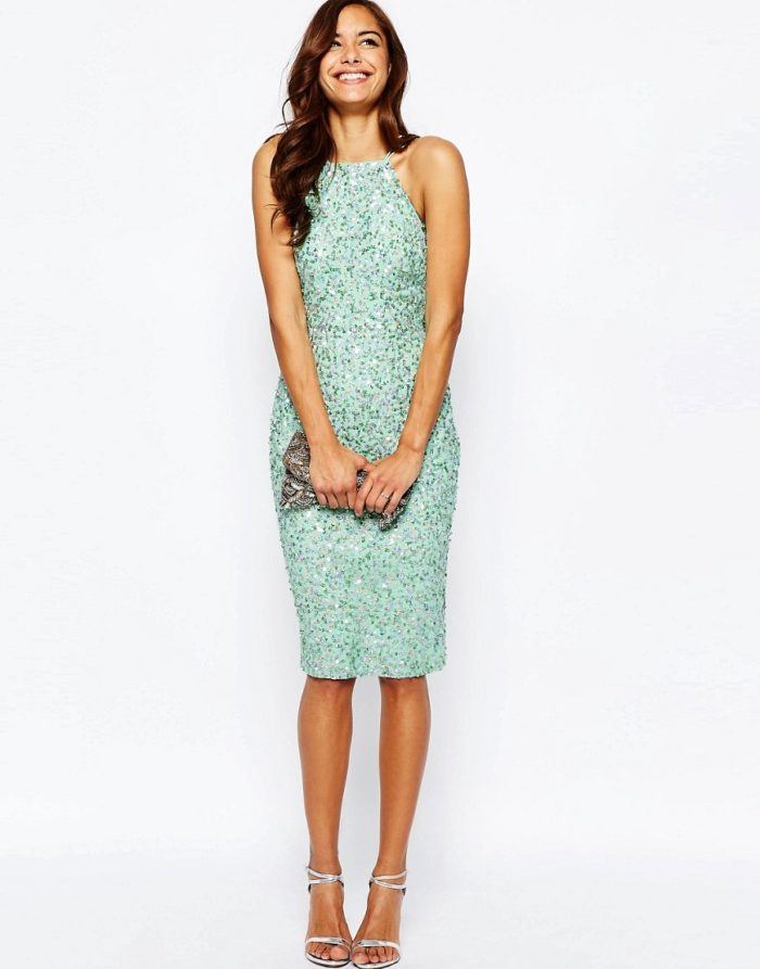 Dress For Wedding Guest Sequin A Spring Odyowmb