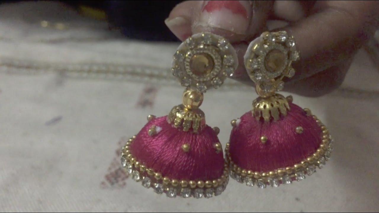 earrings for girls silk thread jhumka jhumki earrings for women u0026 girls torjasy