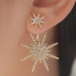 earrings for women 1pc rhinestone double star earring kottbly