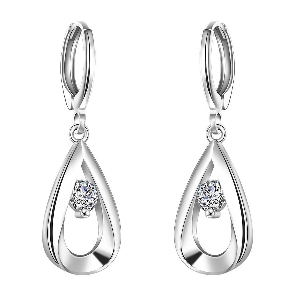 earrings for women whole trendy silver plated water drop cubic zirconia dangle immjdqt
