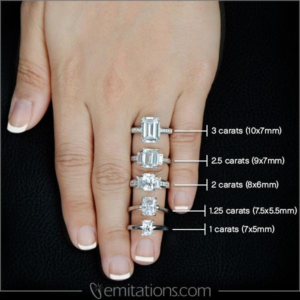 ellieu0027s silvertone emerald cut cz eternity ring rleazdt