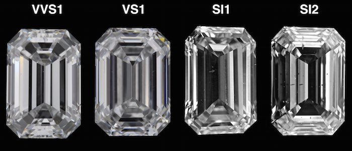 emerald cut comparing clarity ratings for emerald diamonds qdkckbt
