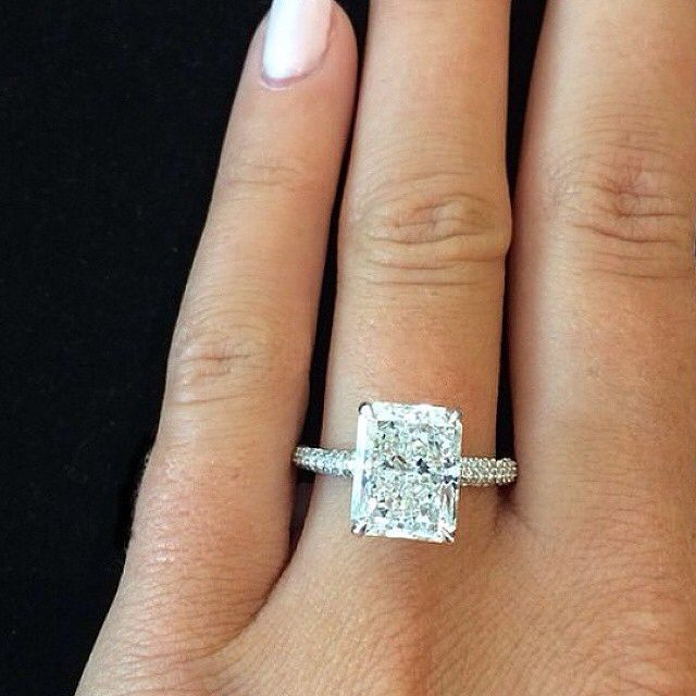emerald cut simply beautiful radiant cut engagement ring ♡♡♡♢♢♢♡♡♡ www lpgnqxw