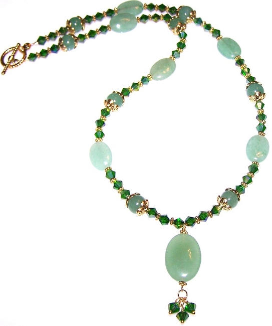 emerald elegance necklace beaded jewelry making kit ZMTHPRT
