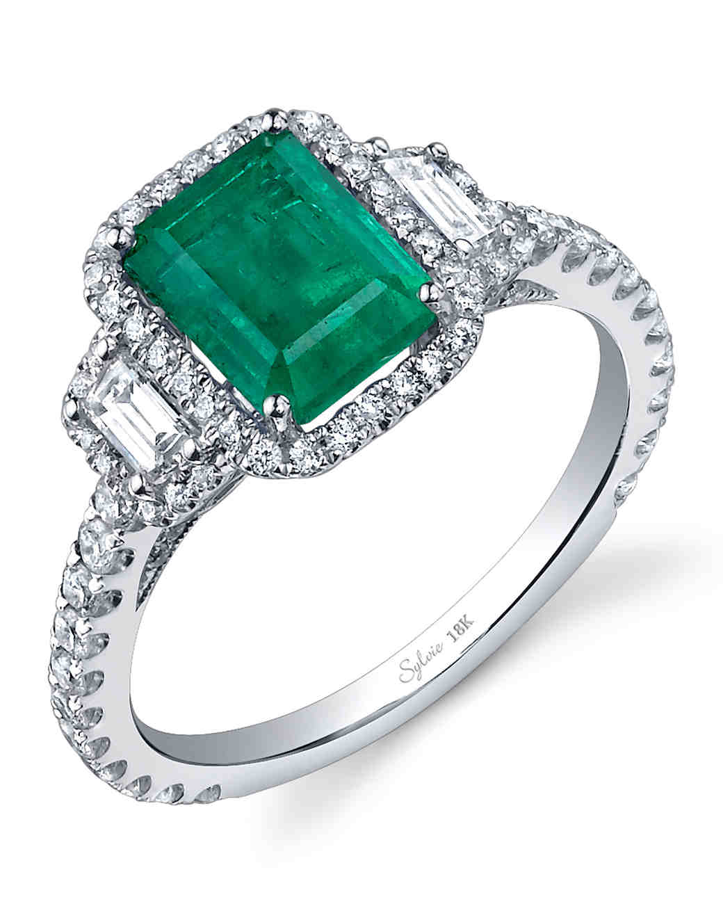 emerald engagement rings slyvie collection emerald engagement ring ysiojnk