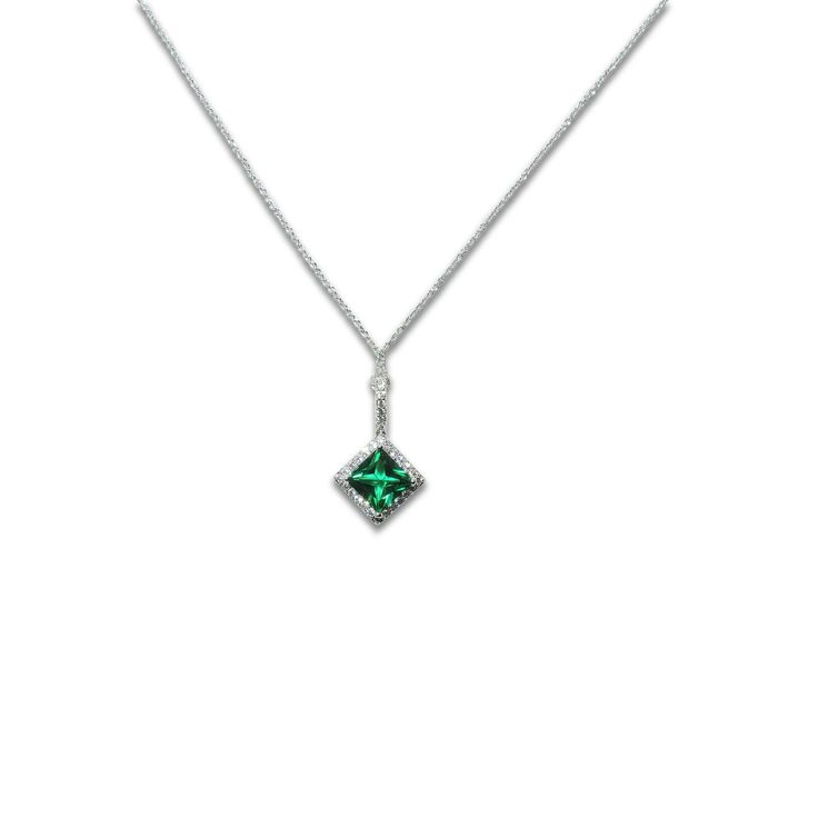 emerald necklace princess emerald pendant necklace rrvcchs