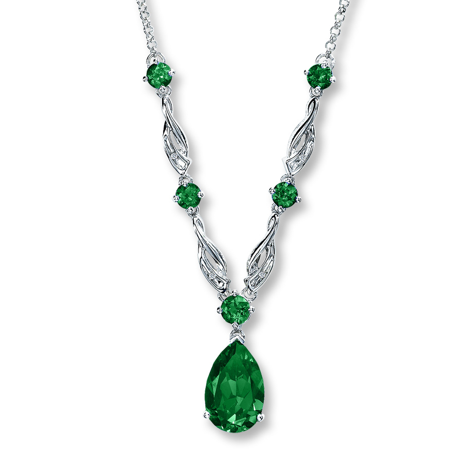 emerald necklace zeqaeru