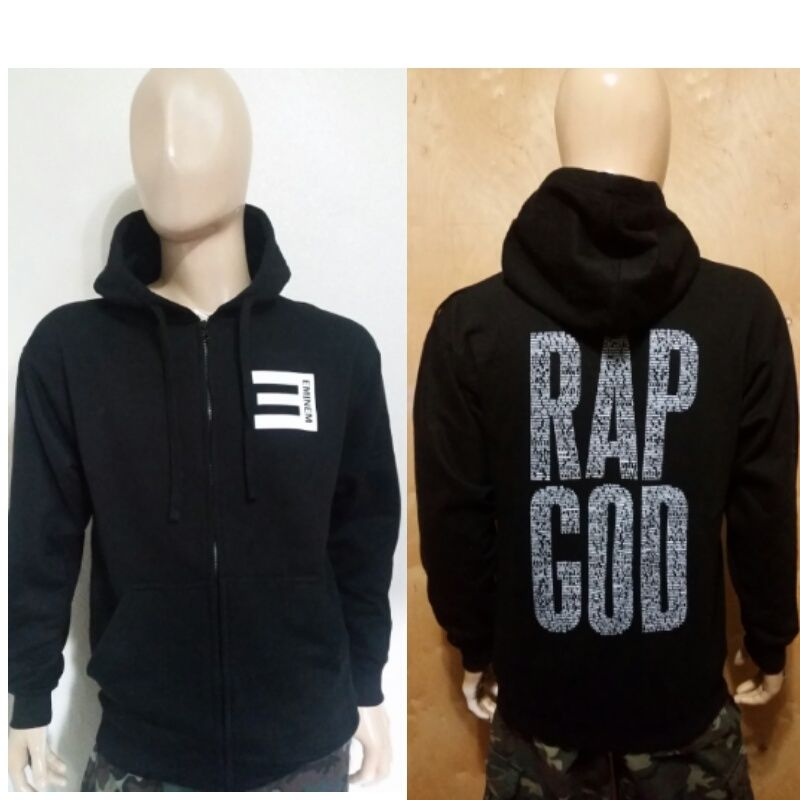eminem hoodie eminem rap god black zipper zip up pullover hoodie slim shady rap god spwochi