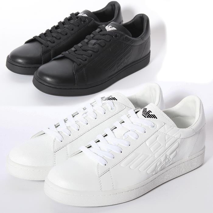 emporio armani emporio armani sneakers 278049 00020 cc299 00010 white black  mens xspgarq