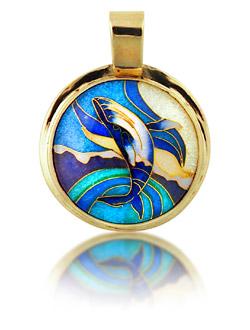 enamel jewelry breaching-whale oflwvph