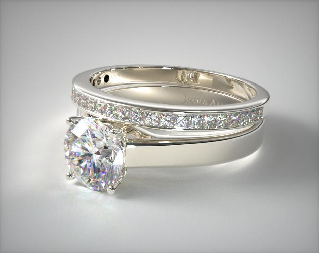Settings of engagement ring sets determine their styles