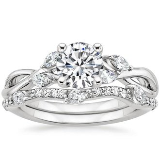 engagement ring sets 18k white gold. willow diamond ... uyenddq
