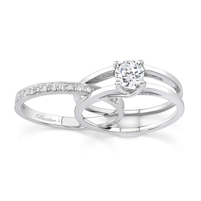 engagement ring sets white gold diamond engagement ring set - 7145s cuwdgql