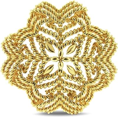 estate tiffany 18k yellow gold brooch 431-00035 wnxoiut