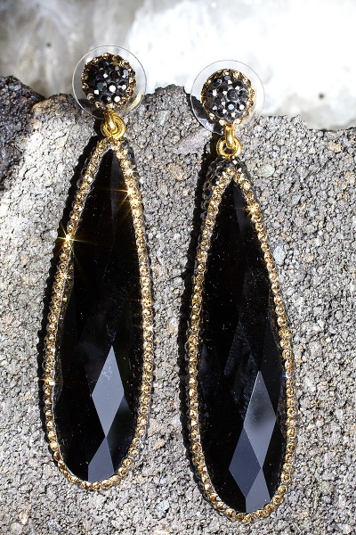 everything black onyx cocktail earrings vbdolra