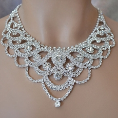 extravaganza rhinestone necklace set htyuceb