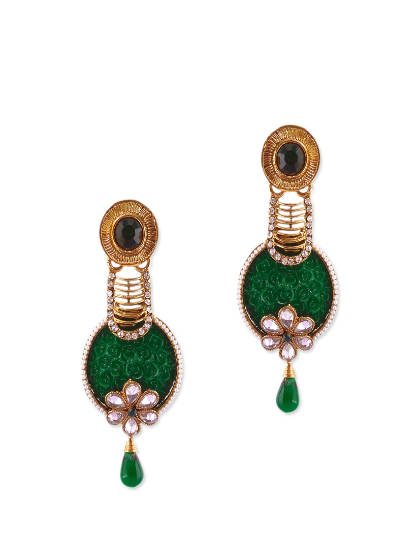 fabulous green cocktail earrings ... edsrpur
