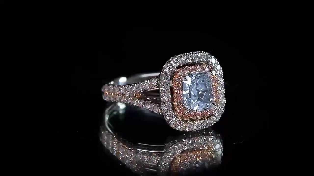 fancy blue diamond engagement ring top luxury jewelry made by ostasz llcshaz