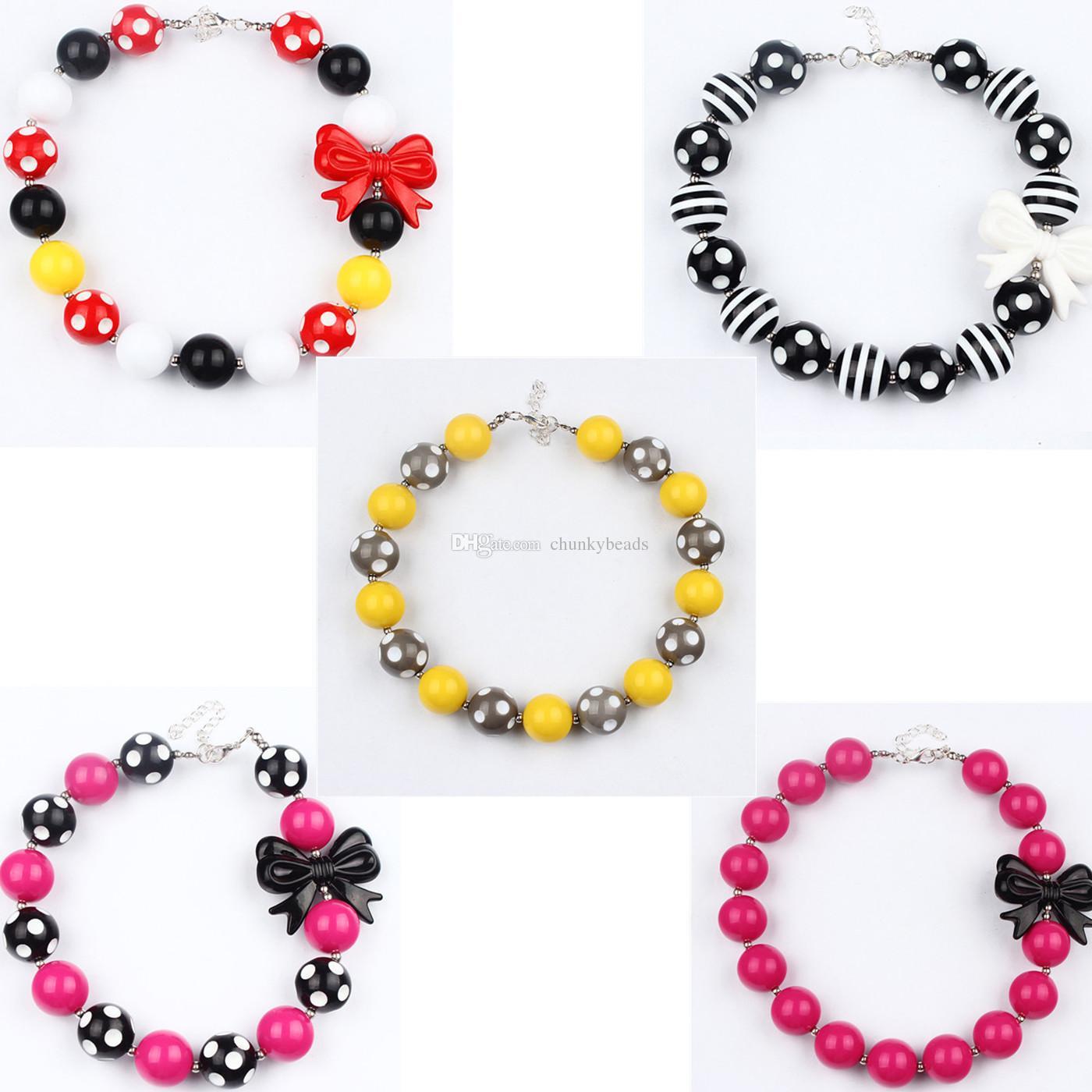 fashion jewelry beads necklace cartoon beads necklace for baby children  kids jewelry decoration dress kehnxrd