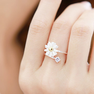 fashion rings 0627 daisy ring ring daisy flower ring vfoiiol