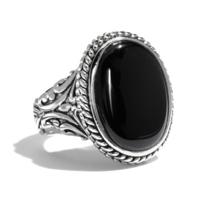 fashion rings silver tone oval cabochon ring yztsvyy