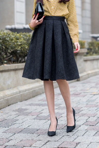 fashion structured pleated skirt - oasap.com dhajvyf
