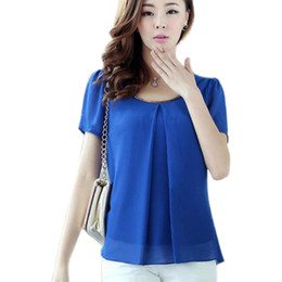 fashionable tops fashionable new trend large size pure color chiffon tops fresh summer cozy  style good wxgguvg