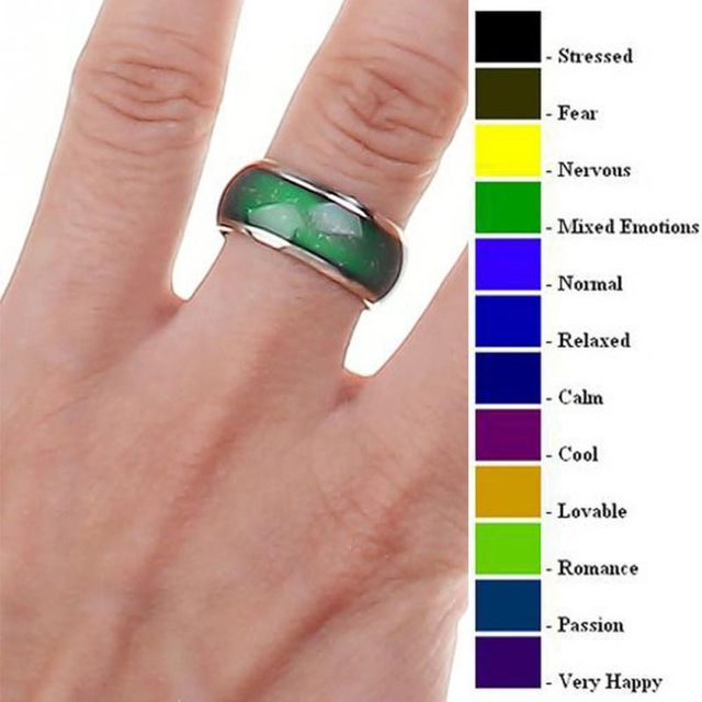 fine jewelry mood ring color change emotion feeling mood ring changeable  band temperature ring kropaey