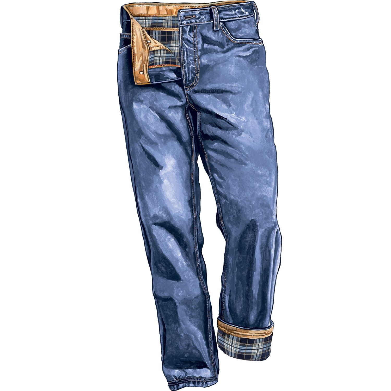 flannel lined jeans menu0027s ballroom flannel-lined 5-pocket jeans. denim wseaeks