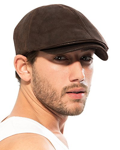 flat caps for men ililily cotton flat cap brown gtwgfys