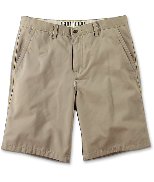 free world discord khaki chino shorts mwekpgg