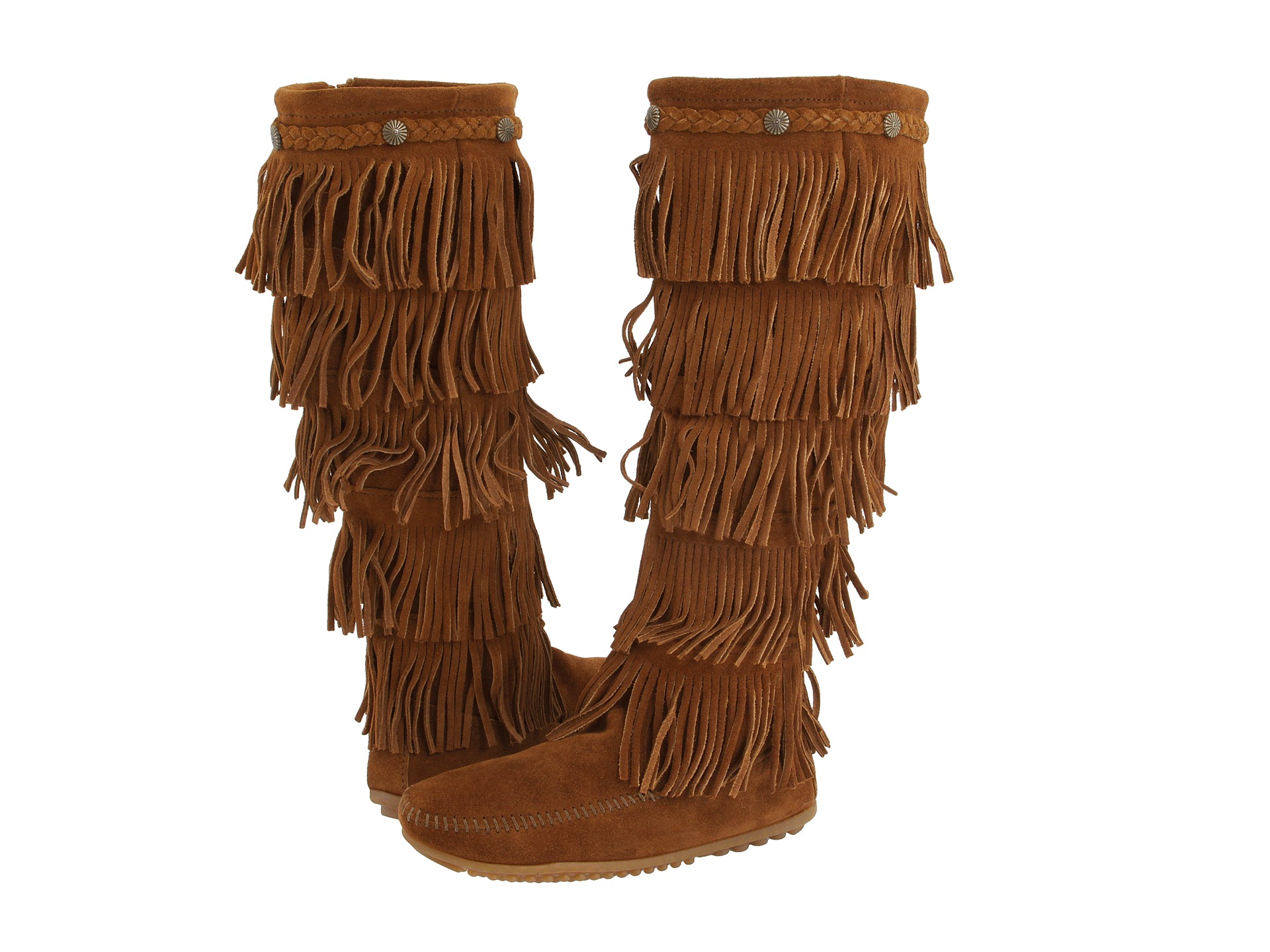 fringe boots minnetonka 5-layer fringe boot at zappos.com woshjfc