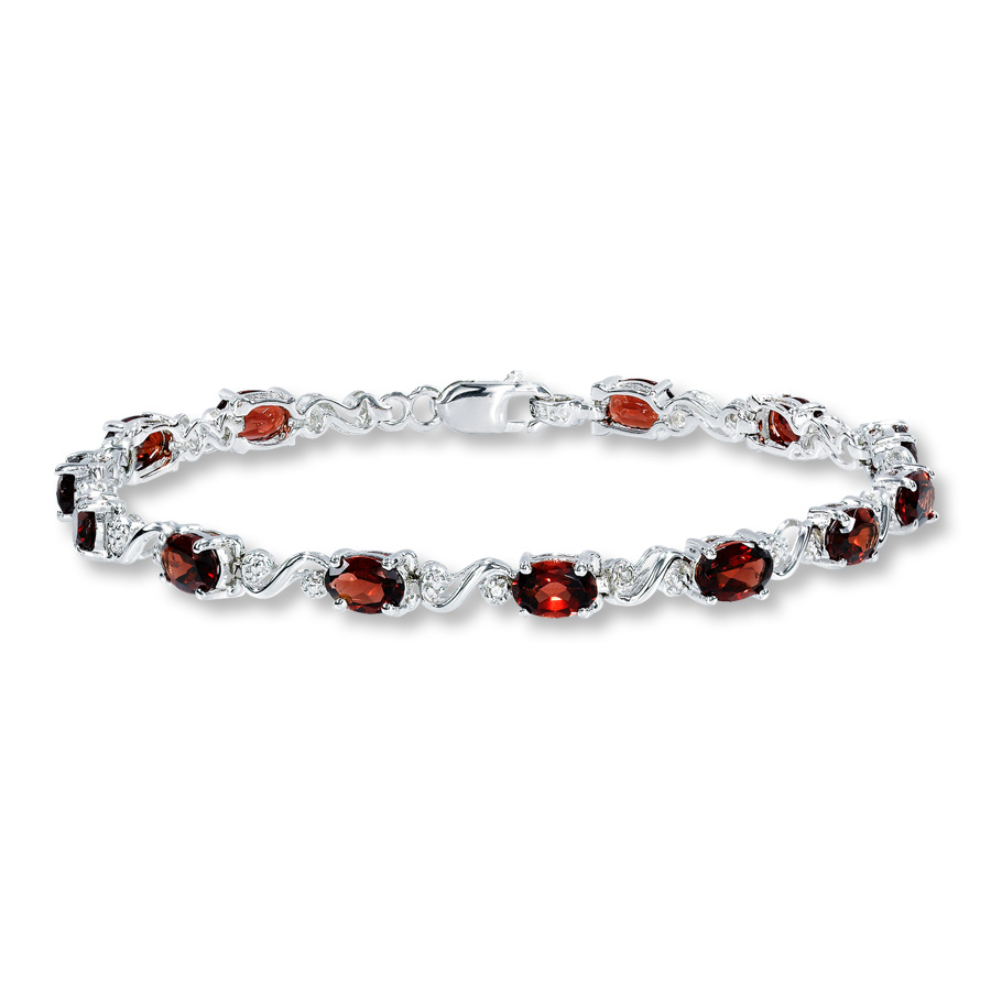 garnet bracelet hover to zoom vifjayy