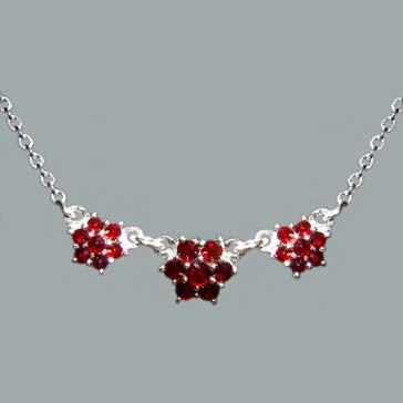 garnet jewelry bohemian garnet necklace item number: sn-012 - sterling silver 925. size:  16 1/2 in hfyngvb