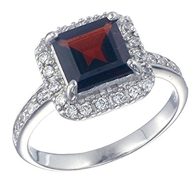 garnet jewelry sterling silver garnet ring (1.50 ct) in size 5 acernub