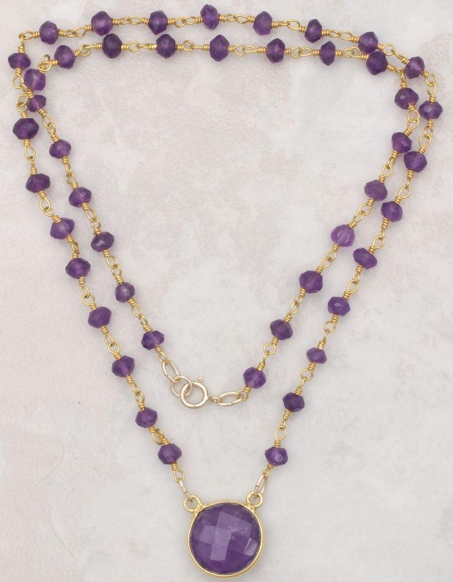 gemstone necklaces amethyst pendant and gemstone necklace vyimcev