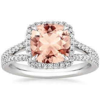 gemstone rings 18k white gold. morganite fortuna ring zquaqeq