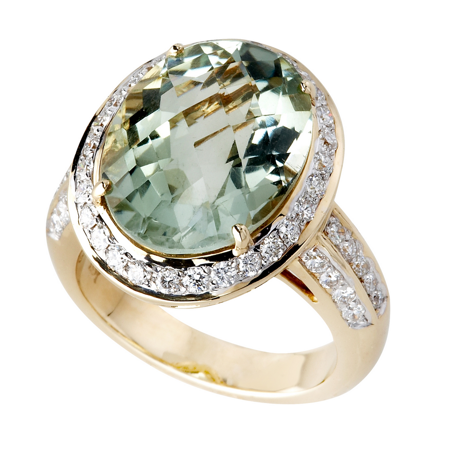oval gemstone ring canada ann gold birthstone aquamarine jewellers louise white rings diamond in