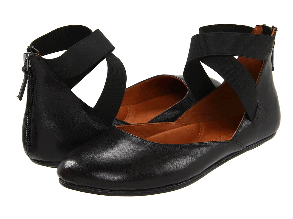 gentle souls shoes gentle souls bay unique (black leather) womenu0027s flat shoes twhucwr