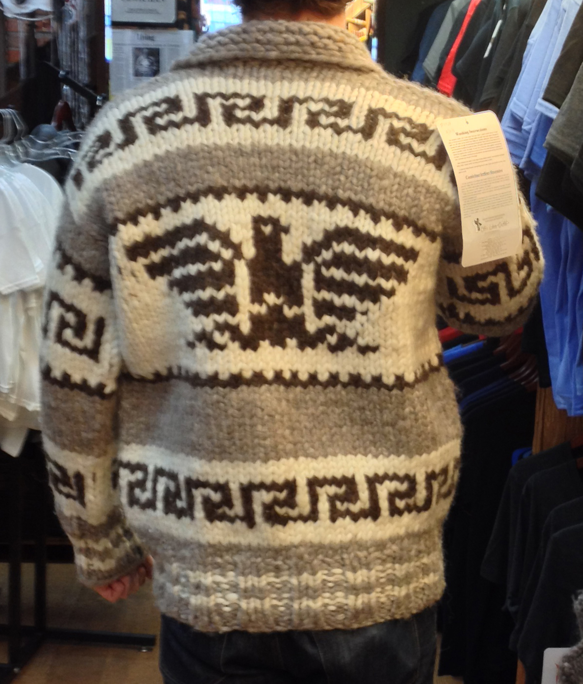 genuine handmade cowichan sweater bcprrpw