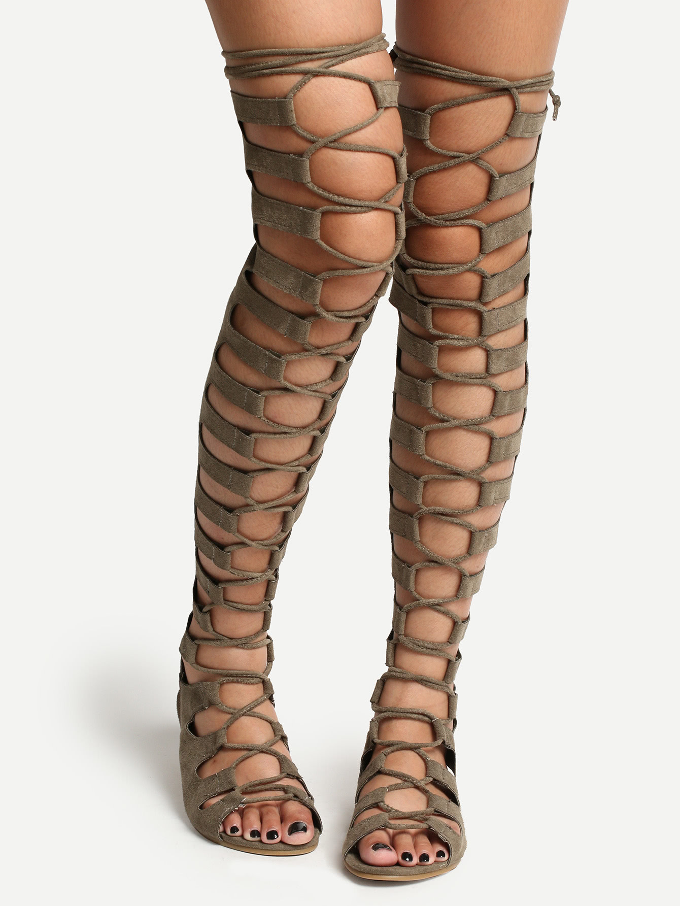 gladiator heels olive lace up thigh high gladiator sandals yzrfdsj