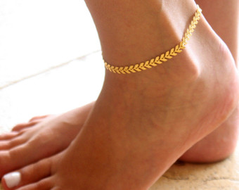 gold anklet - gold ankle bracelet - arrow anklet - foot jewelry - foot fnhpdio