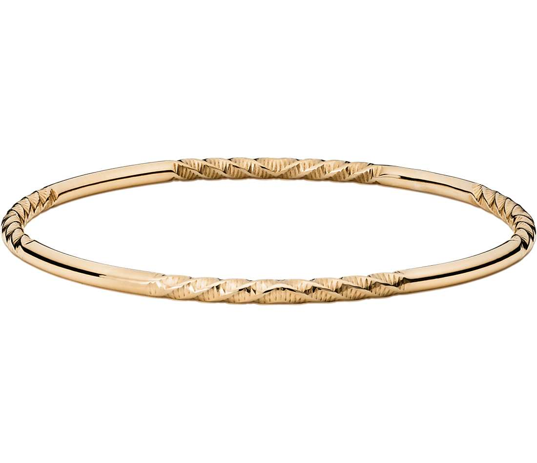 gold bangle bracelet twist bangle bracelet in 14k yellow gold fuizlmc