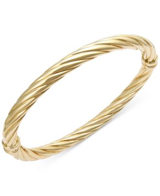 bangles on slip bangle yellow bracelets gold categories solid std selection bracelet