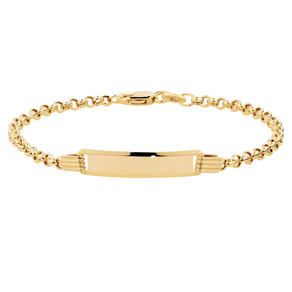 gold bracelets baby identity bracelet in 10kt yellow gold jhtetzl