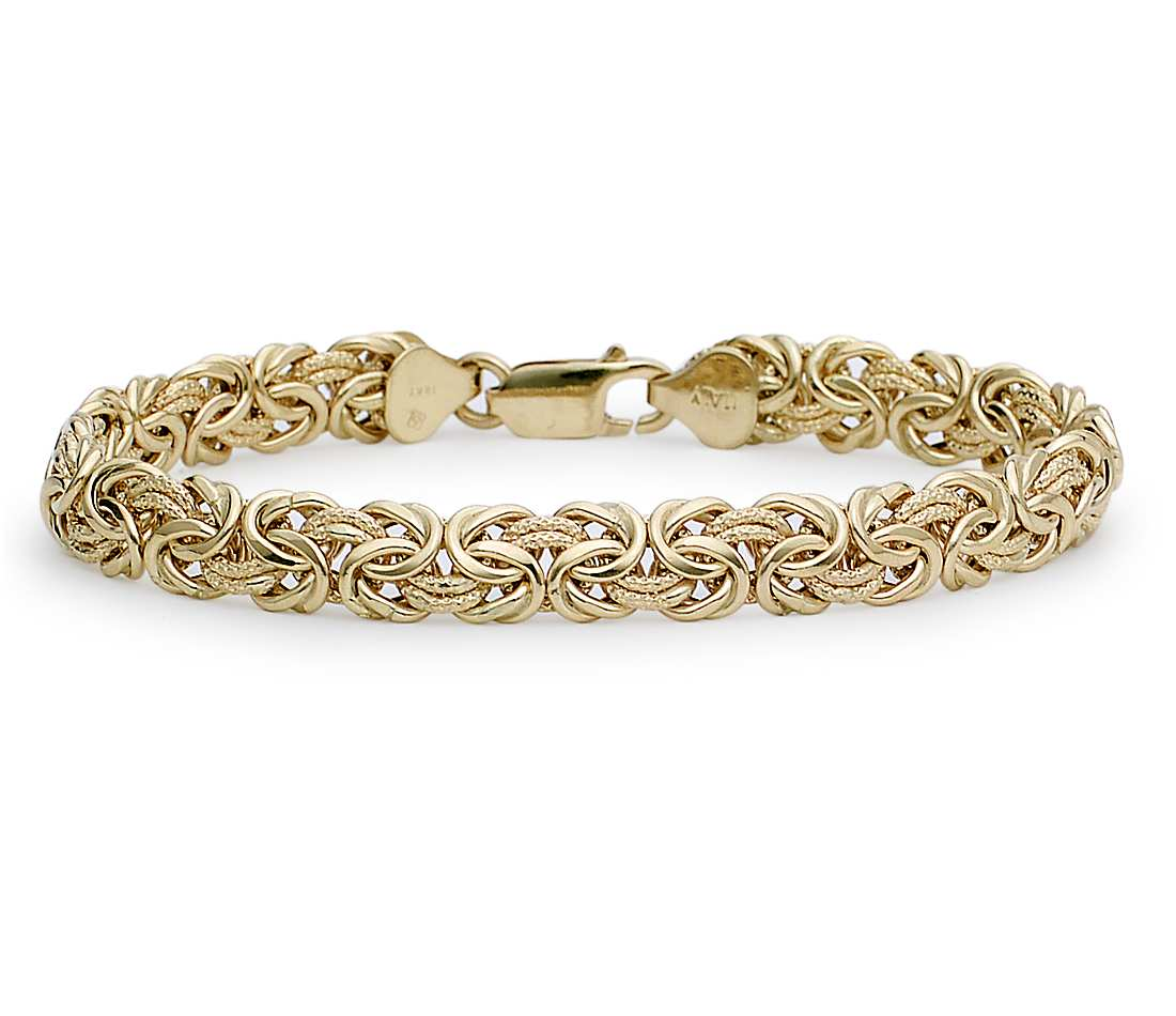 gold bracelets byzantine bracelet in 18k yellow gold ixfupjv