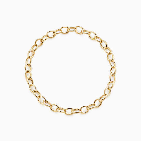 gold bracelets new oval link bracelet in 18k gold, medium. dowyxky