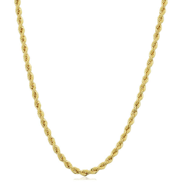 gold chain necklace fremada 14k yellow gold filled unisex 2.10-mm rope chain necklace (16 - 36 pzptnbj