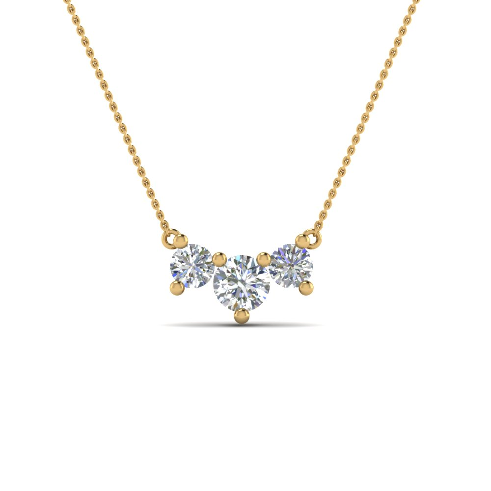 gold diamond necklace diamond necklace with white diamond in 14k yellow gold qebmcla