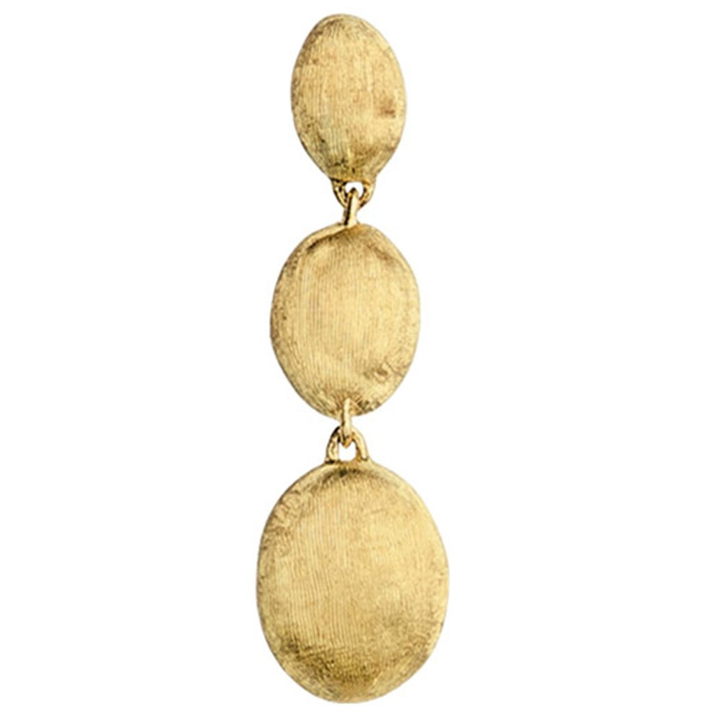 gold drop earrings siviglia gold triple drop earrings njwebji